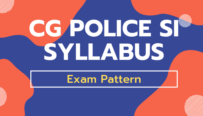 CG Police SI Syllabus pdf in hindi