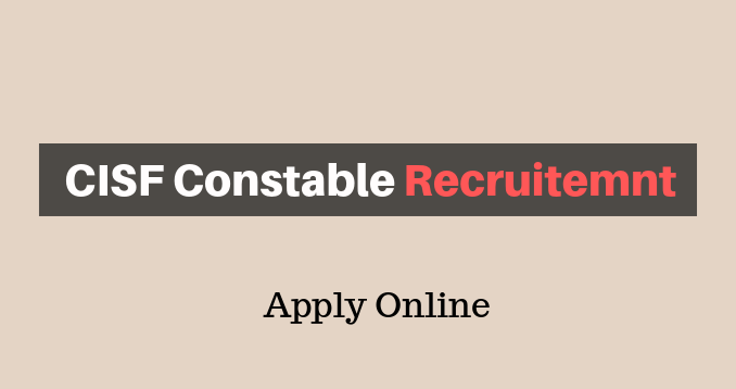 CISF Constable Recruitment